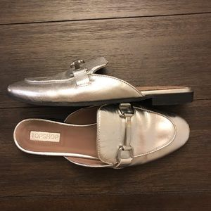 Topshop Silver Mules
